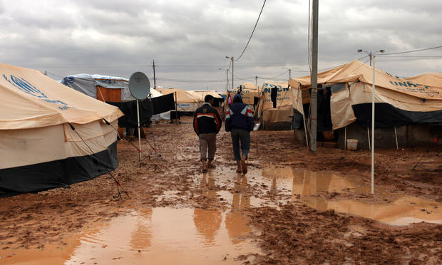 Syrian refugees endure harsh weather