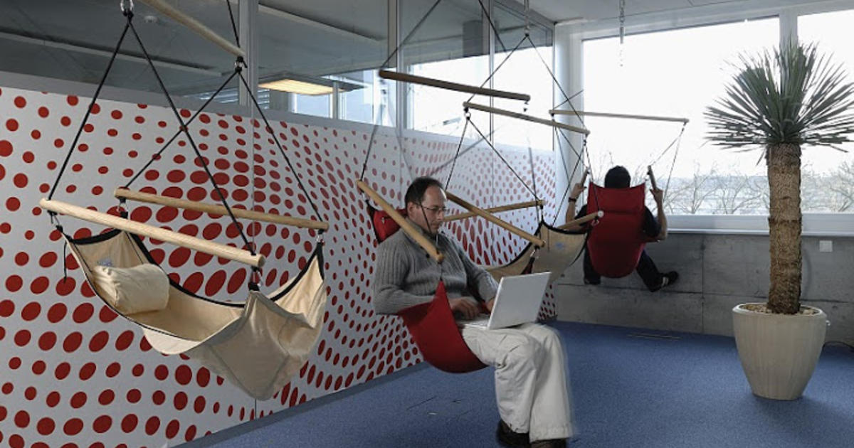 Inside google workplaces from perks to nap pods cbs news for Google office zurich design