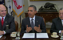 "Obama: In guns discussion, ""no group is more important"" than police"