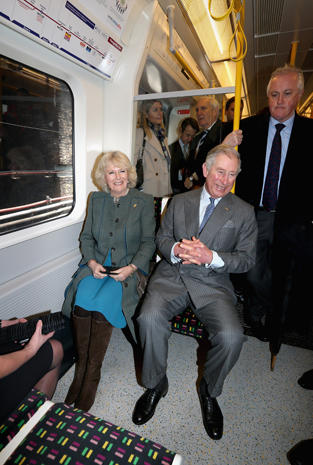 Prince Charles and Camilla take the Tube
