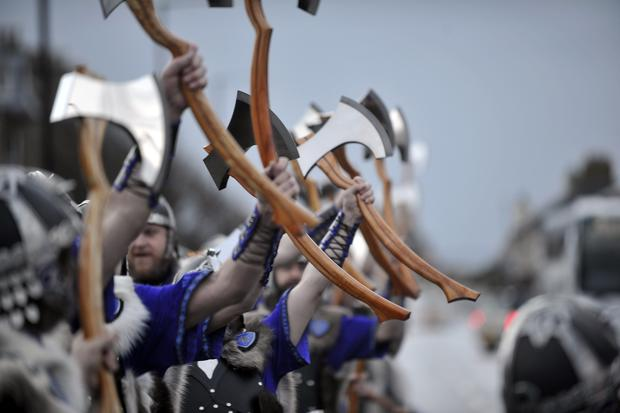 Viking Festival in the Shetland Islands