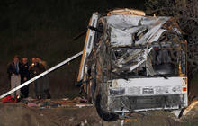 Tour bus crashes in Calif.