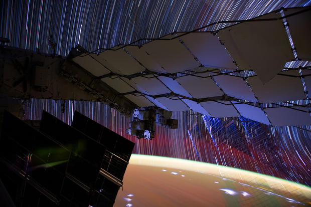 Star Trails: Long-exposure photos from space