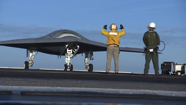 An X-47B being tested by the Navy. This model drone is slated to be ready for use in 2017.