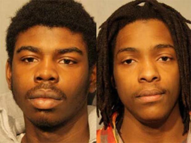 迈克尔沃德,左,和肯尼斯威廉姆斯被控Hadiya彭德尔顿的死亡。