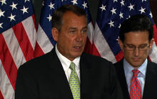 Boehner challenges Senate on budget cuts
