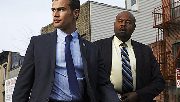 Walter Clark Jr. (Theo James, left) is partnered with and mentored by