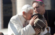 Pope Benedict makes one of his final public appearances