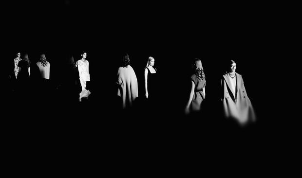 Paris Fashion Week in black and white