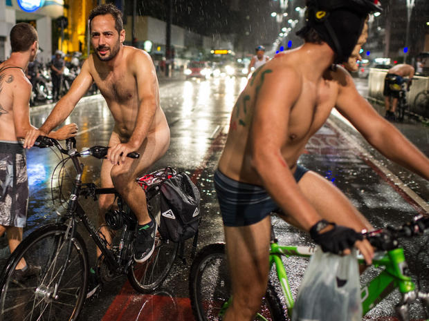 Nude cyclers celebrate World Naked Bike Ride