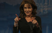 "Palin taunts ""liberal media folk"" at CPAC"