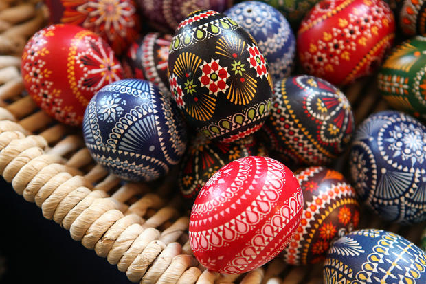 Colorful Easter eggs in Germany