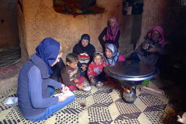 Clarissa Ward interviews members of a family of 11 who are living in a cramped cave