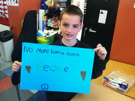 Undated school Facebook photo of Boston Marathon bombing victim Martin Richard