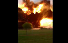 Fertilizer plant explosion caught on cell phone cam