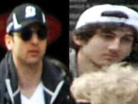 Two men identified by the FBI as suspects in the Boston Marathon bombings