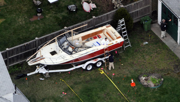Boston bombing suspect found hiding in boat
