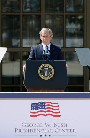 George W. Bush Presidential Center dedication