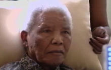 Mandela appears weak in new video