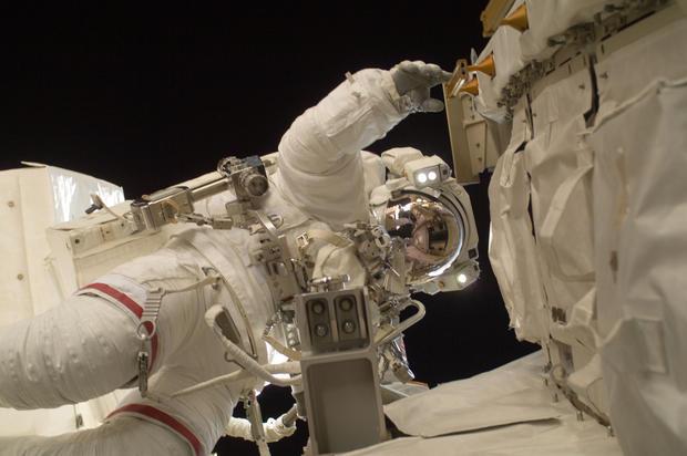 NASA astronaut Sunita Williams during a speacewalk