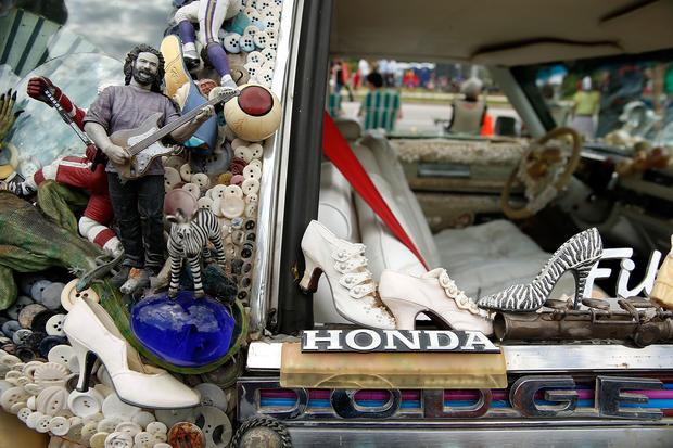 Creative cars on parade