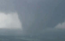 Watch: Aerials of tornado in Wellston, Okla.