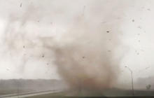 Watch: Tornado touches down on Route 66