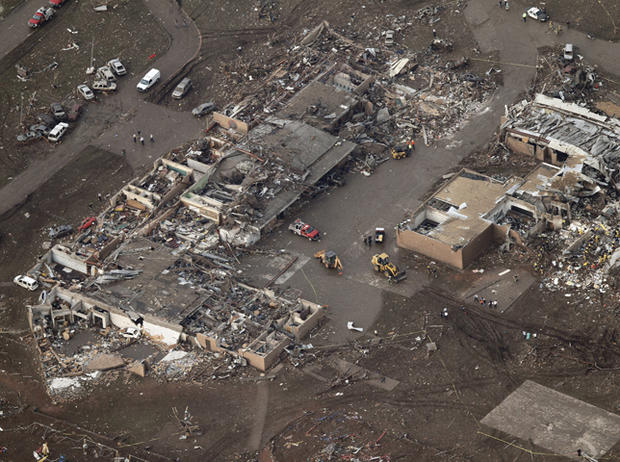 Oklahoma tornado: Before and after photos
