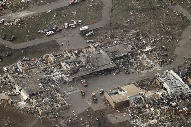 Tornado's destructive path