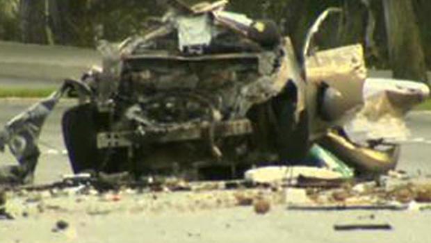 Five Teens Killed In Fiery Orange County Car Crash Cbs News