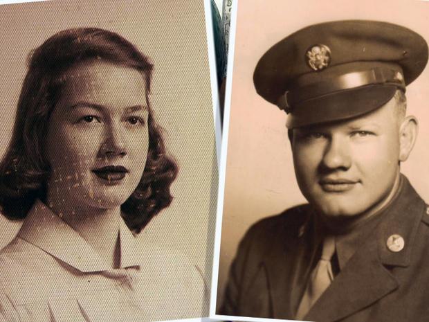 辛西娅·里格斯和霍华德·阿特伯里六十年前合照。