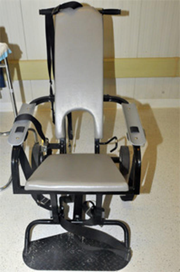 The chair in which Guantanamo detainees are force fed.