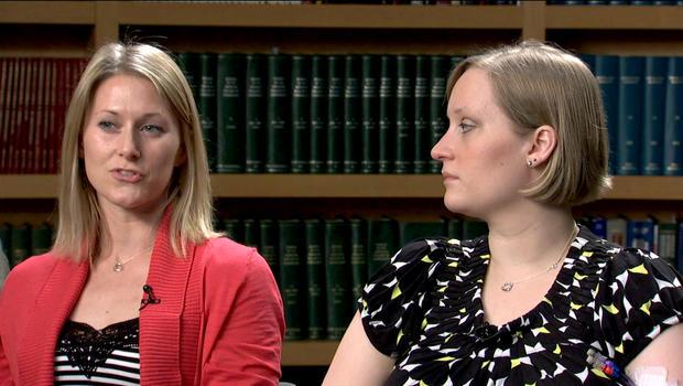 Nicole Gross (left) and her sister Erika Brannock.