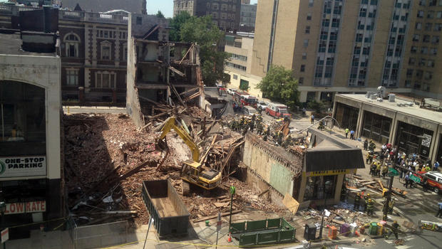 Building Collapse in Philly