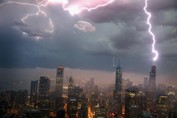 Dramatic storms move across the country
