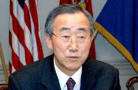 UN Secretary-General Ban Ki Moon.
