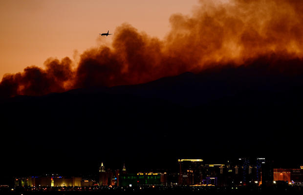 Wildfire burns near Las Vegas