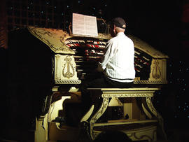 Fred Hermes rescued the organ, made in 1926, from the old Michigan Theater in Detroit.