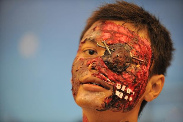 Crazy costume competition in Indonesia