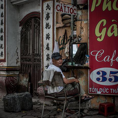 Hanoi's street barbers