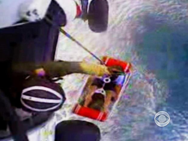 约翰·奥尔德里奇在海上失踪12小时后被吊起安全。