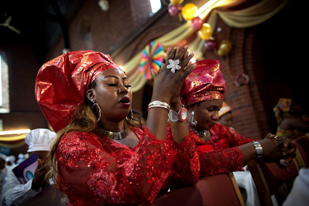 Thanksgiving in London's African church