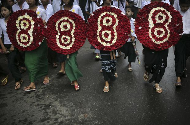 Burma commemorates 1988 uprising
