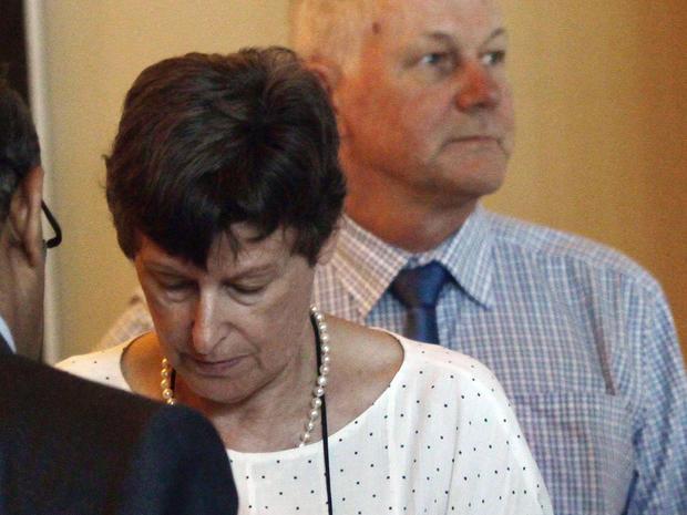 Swedish scientist Ake Sellstrom, at right, and U.N. high representative for disarmament Angela Kane