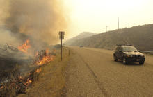 Wildfire blazes through Idaho
