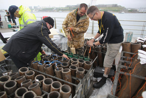 Pyrotechnic pros compete in England