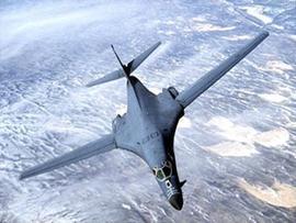 US Air Force B-1B Lancer jet bomber in flight, file photo
