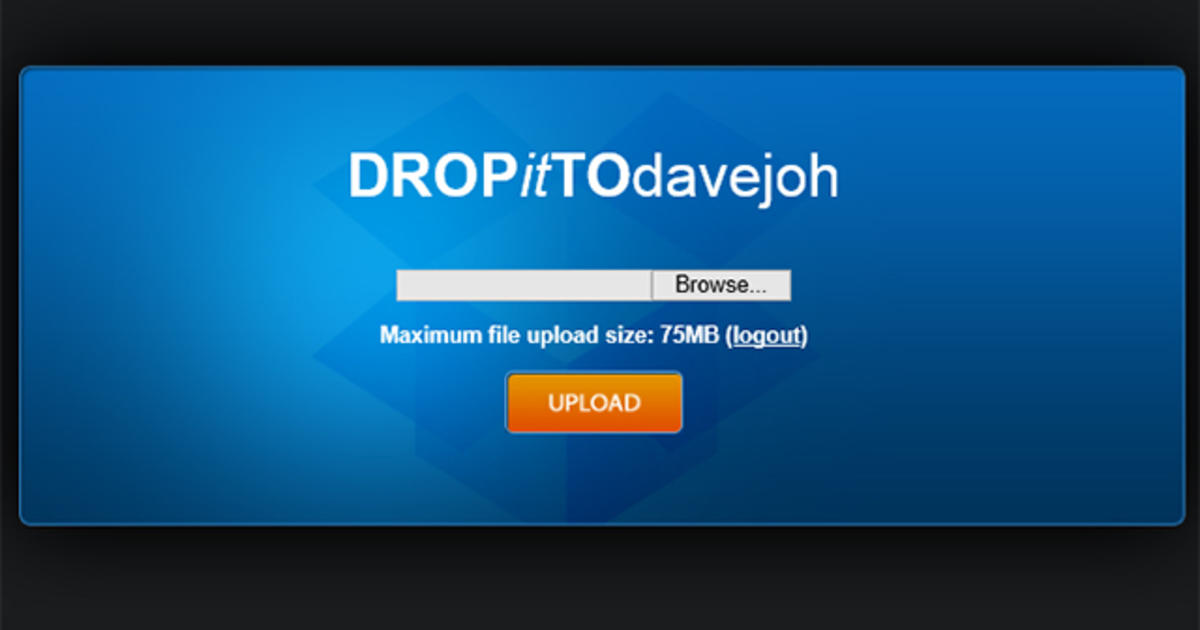 Two easy ways to send files to your Dropbox