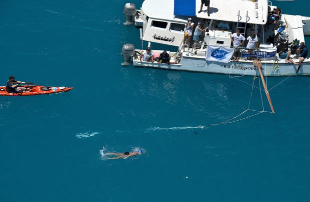 Diana Nyad completes record swim on fifth try