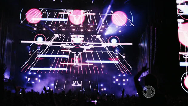 The scene at Electric Zoo in New York City.